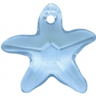 Swarovski 6721 Starfish 16mm Crystal Pendant Aquamarine